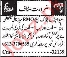 Medical Officer & Nurse Jobs 2020 in Quetta