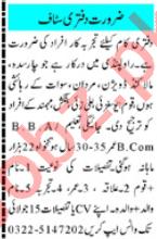 Mashriq Sunday Classified Ads 12th July 2020 Office Staff