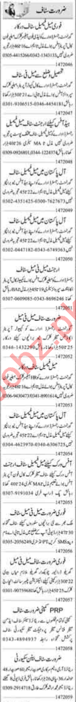 Data Entry Operator & Receptionist Jobs 2020 in Islamabad