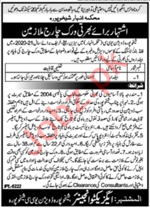 UCC Division Sheikhupura Irrigation Department Jobs 2020