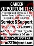 Electronic Engineer & Service Engineer Jobs 2020