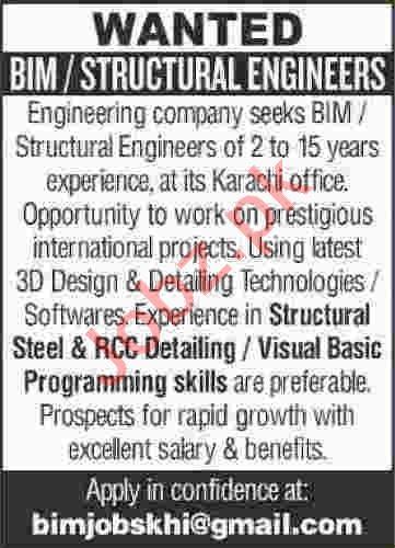 Structural Engineer & BIM Engineer Jobs 2020 in Karachi