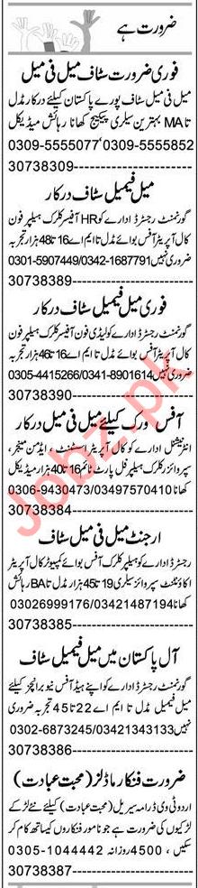 Admin Officer & Cashier Jobs 2020 in Faisalabad