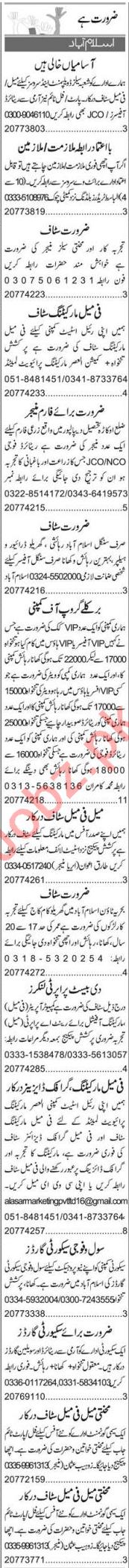 Accountant & Secretary Jobs 2020 in Islamabad