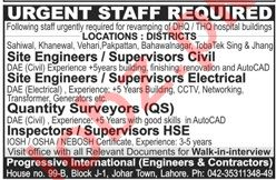 Site Engineer & Site Supervisor Jobs 2020 in Lahore