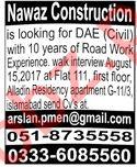 Civil Engineer & Technician Jobs 2020 in Islamabad