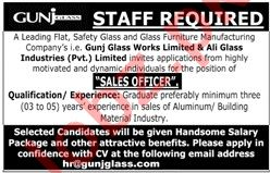 Sales Officer Jobs 2020 in Gunj Glass Works
