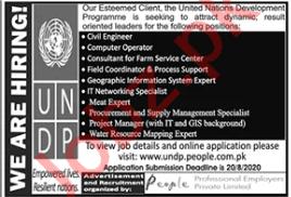Civil Engineer & Computer Operator Jobs 2020 in UNDP
