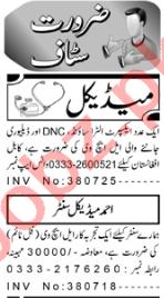 Medical Officer & ICU Technician Jobs 2020 in Peshawar