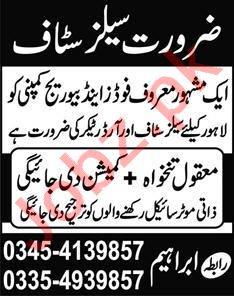 Order Taker & Sales Officer Jobs 2020 in Lahore