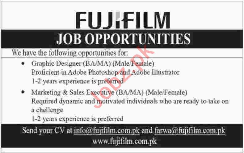 Graphic Designer & Marketing Executive Jobs 2020 in Karachi