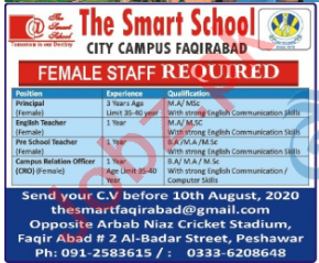 The Smart School City Campus Faqirabad Jobs 2020 for Teacher