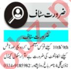 Male & Female Staff Teaching Staff Jobs 2020 in Peshawar