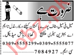 Computer Operator & Admin Officer Jobs 2020 in Lahore