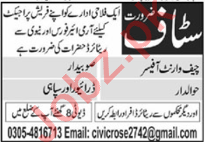Chief Warrant Officer & Subedar Jobs 2020 in Lahore