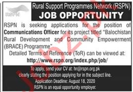 Rural Support Program Network RSPN Jobs 2020