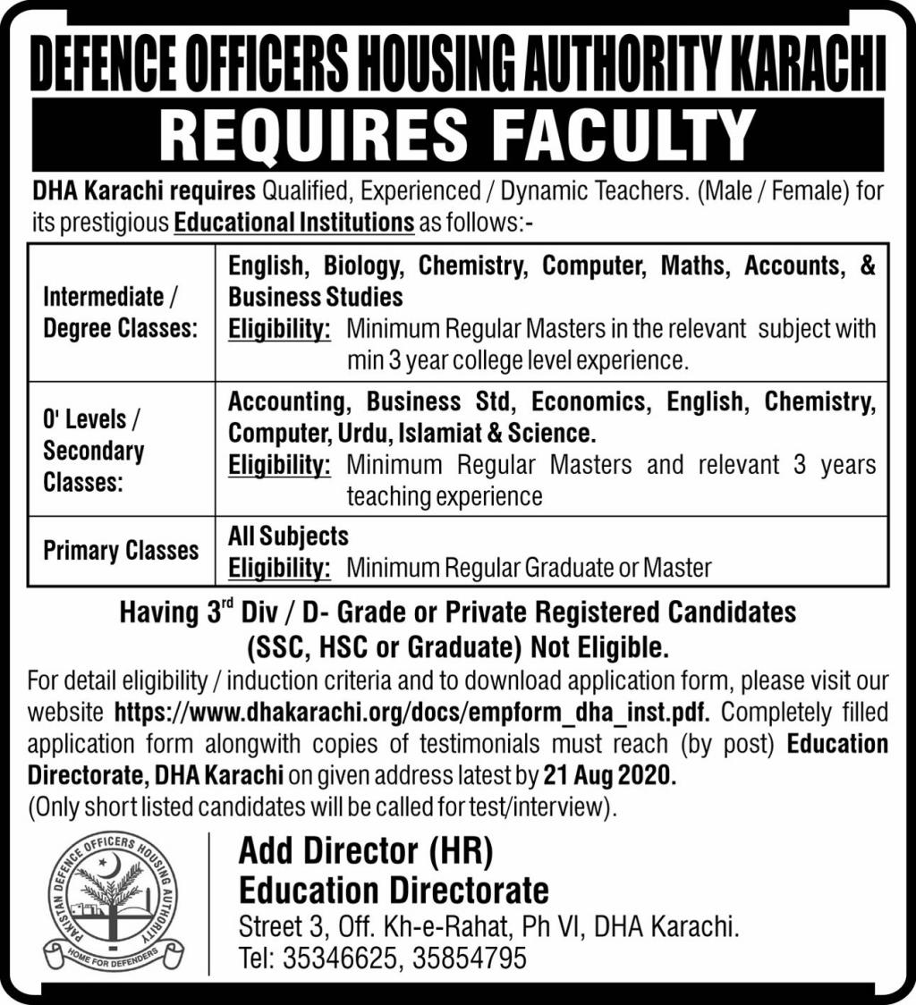 Educational Institutions Jobs 2020 For Teaching Staff