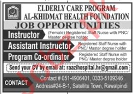 Elderly Care Program Rawalpindi Jobs 2020 for Instructors