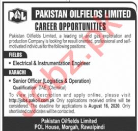 Pakistan Oilfields Limited POL Rawalpindi Jobs 2020