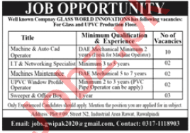 AutoCAD Operator & Networking Specialist Jobs 2020
