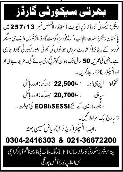 Security Guards Jobs 2020 in Karachi