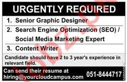 Senior Graphic Designer & Social Media Marketing Expert Jobs