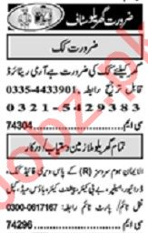 Khabrain Sunday Classified Ads 9 Aug 2020 for Domestic Staff