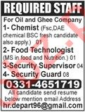 Chemist & Food Technologist Jobs 2020 in Lahore