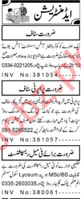 Coordinator & Office Assistant Jobs 2020 in Peshawar