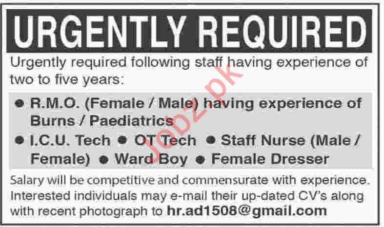 Resident Medical Officer & ICU Technician Jobs 2020