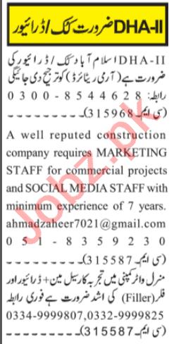 Social Media Expert & Filler Jobs 2020 in Islamabad