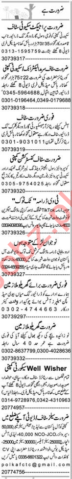 Admin Officer & Security Guard Jobs 2020 in Faisalabad
