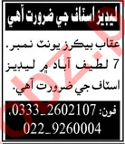 Ladies Staff Jobs 2020 in Hyderabad