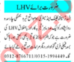 LHV & Woman Medical Officer Jobs 2020 in Peshawar