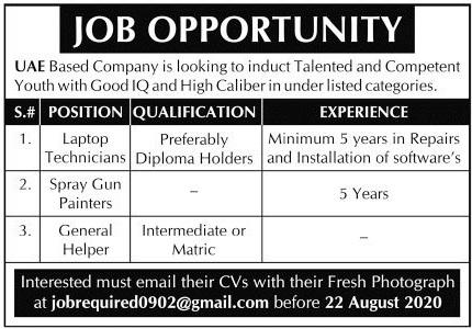 Technical Staff Jobs 2020 in United Arab Emirates UAE