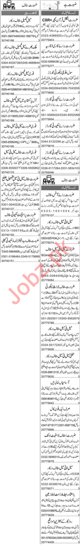 Web Developer & Quran Teacher Jobs 2020 in Islamabad