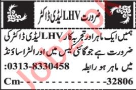 LHV & Woman Medical Officer Jobs 2020 in Quetta
