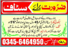 Miscellaneous Staff Jobs 2020 in Multan