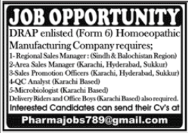 Homoeopathic Manufacturing Company Jobs 2020