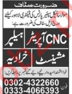 CNC Operator & Lathe Machine Operator Jobs 2020