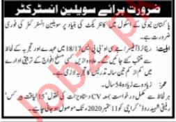 Civilian Instructor Jobs in Pakistan Navy School Karachi