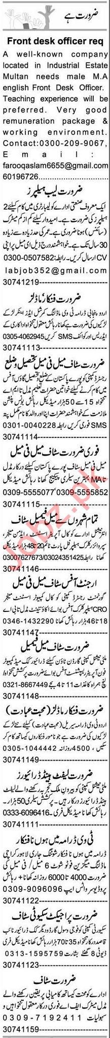 Personal Assistant & HR Officer Jobs 2020 in Multan