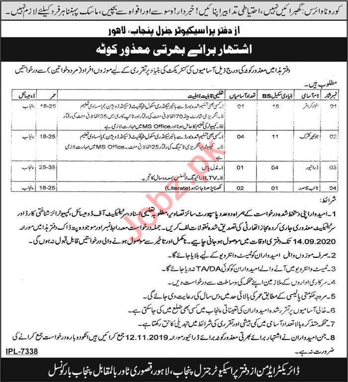 Public Prosecution Department PPD Punjab Jobs 2020