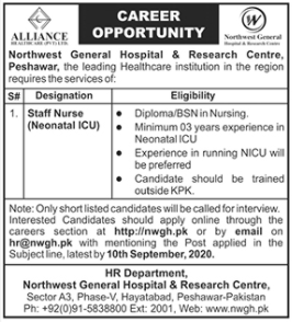 Northwest General Hospital & Research Center Jobs 2020
