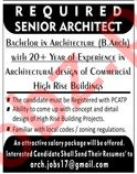 Senior Architect Jobs 2020 in Lahore