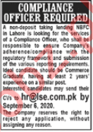 LSE Financial Services Lahore Jobs 2020 Compliance Officer
