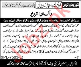 Health Department Jhang Jobs 2020 for Medical Officers