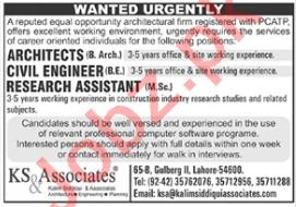 Kalim Siddiqui & Associates Lahore Jobs 2020 for Architect