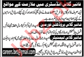 Technical Staff Jobs in Fiber Glass Industry