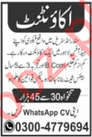 Accountant Jobs Career Opportunity in Lahore 2020